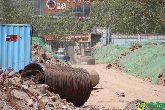 东信鑫茂府最近施工进度来袭,工地火热施工中