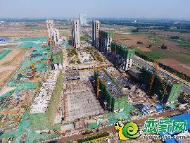 万浩红玺城工地航拍(2017.5.18)