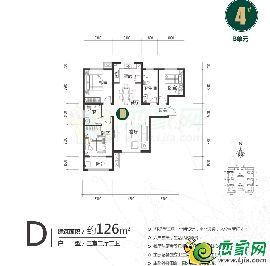 远邦花园4#D户型