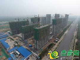 万浩红玺城工地航拍图(2017.7.4)