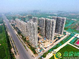 万浩红玺城工地航拍图(2017.8.6)