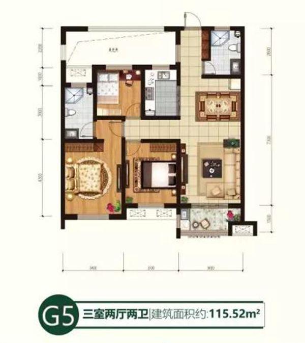 2期5#户型G5 115.52㎡