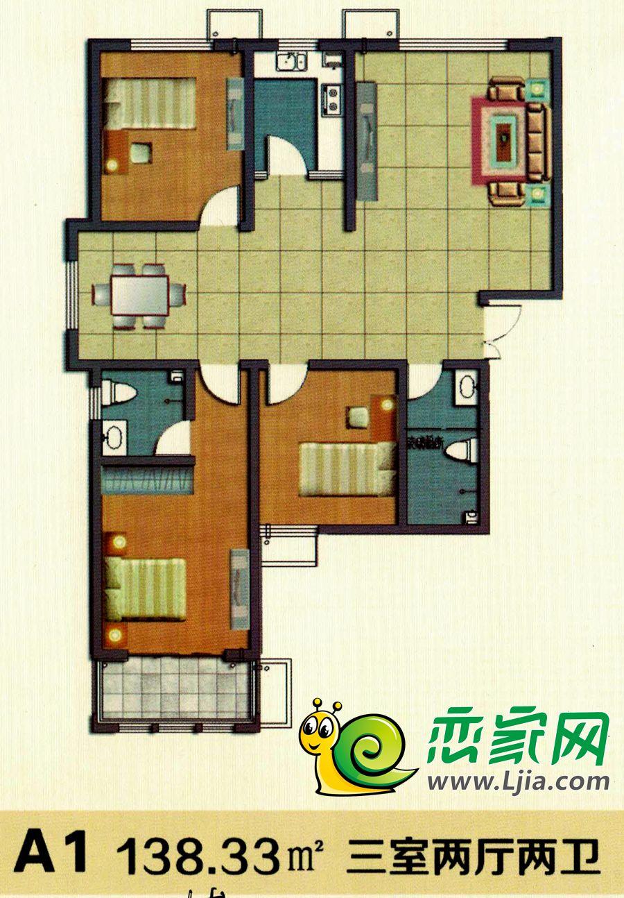 1#楼 A1户型