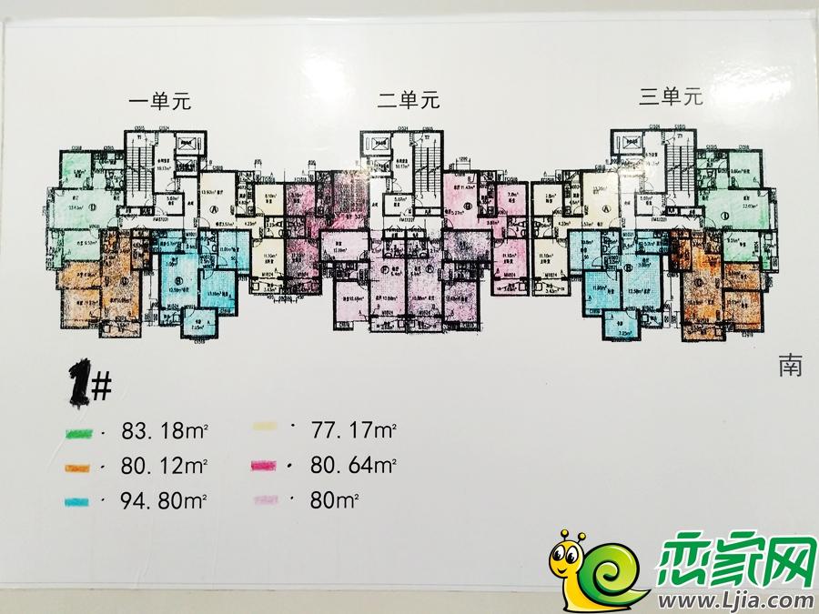 名仕公馆1#楼平面图