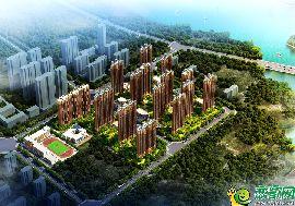 碧桂园天汇湾鸟瞰图