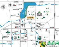 梦湖孔雀城区位图
