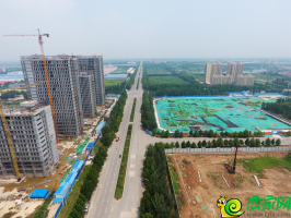 锦绣观邸工地航拍实景(2018.7.15)