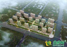 万浩锦城鸟瞰效果图
