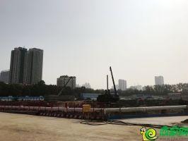 万达广场施工实景图(2018.8.4)