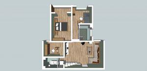 3室2厅1卫 98平米
