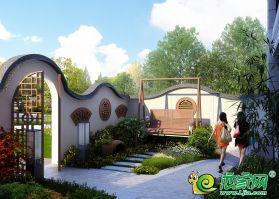 桃李春季园林后果图