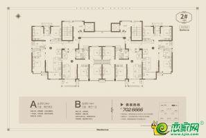 2号楼1单元平面图