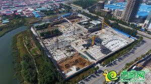 锦绣观邸工地航拍实景(2018.9.29)