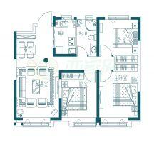 7號樓J戶型 三室102㎡