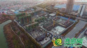 锦绣观邸工地航拍实景(2018.11.18)