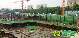 万达广场工地实景图(2019.05.13)