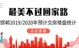 邯鄲2019/2020年預計交房樓盤統計