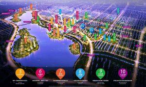 華夏幸福二期,城市湖居+公園生態人居范本