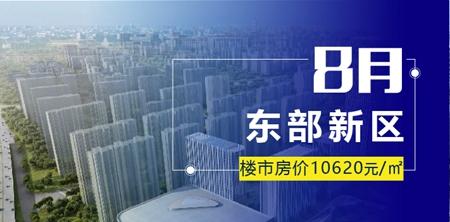 邯鄲東區8月份均價10620元/平米,環比上升1%!