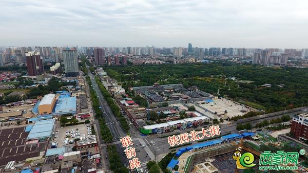 联纺路和铁西北大街实景图
