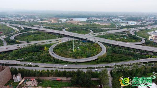 邯郸西环立交桥实景图