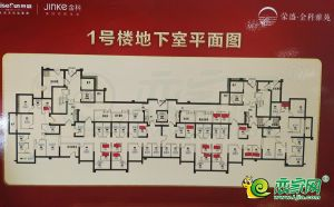 1號樓地下室平面圖