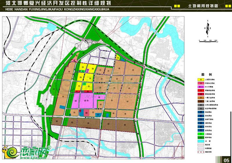 复兴经济开发区土地利用规划图