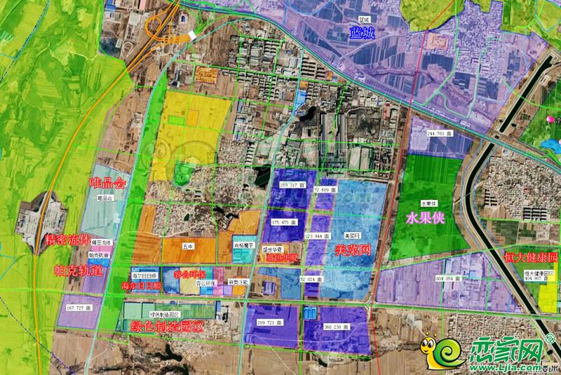 复兴区规划地块卫星图
