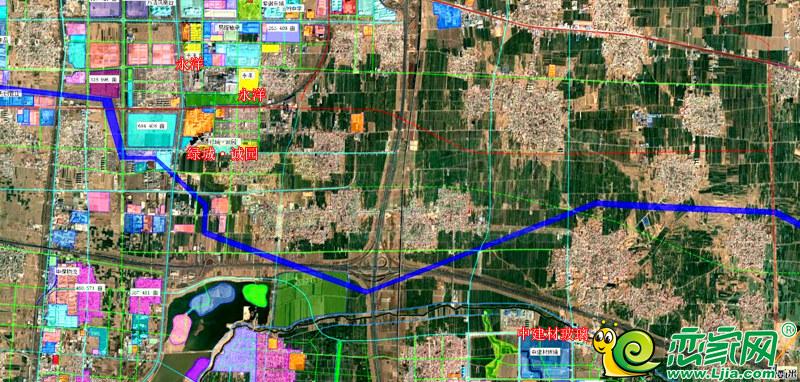 图中蓝色线为丛台区高压走廊