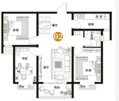 万浩金百合北区全款包更名小三居全明户型看房方便