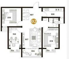 万浩金百合北区小三居全款可以更名全明户型看房方便