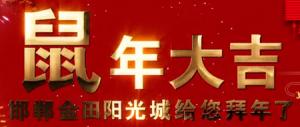 邯郸金田阳光城给全市人民拜年啦——【恋家网出品】
