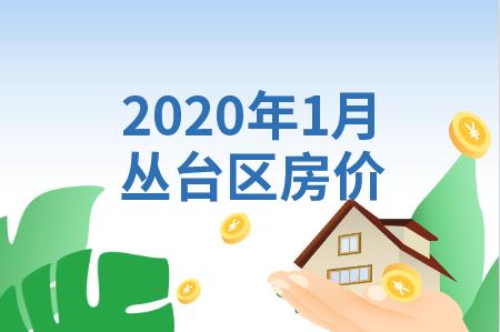 2020年1月叢臺區樓盤均價10317元/㎡