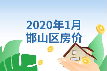 2020年1月邯山區樓盤均價10025元/㎡,穩步調整