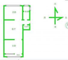 開元小區 精裝修 2室2廳 南北通透 60平 滿五唯一首付低