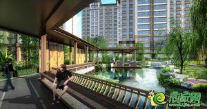 明芳滨湖城水景后果图