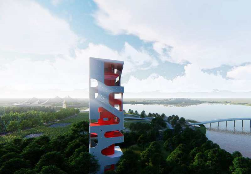 省第四届园博园:最高快3建筑景观塔封顶 打造文化