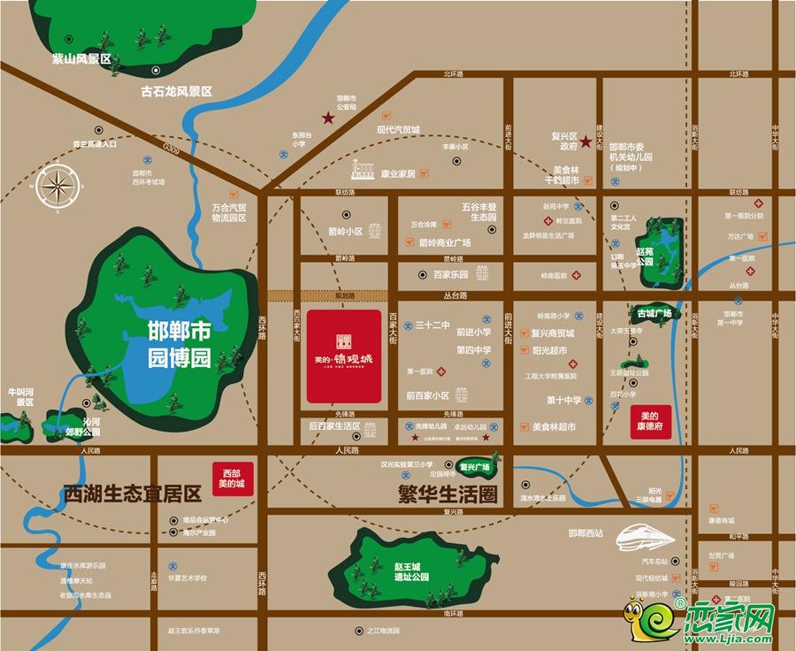 美的锦观城区位图