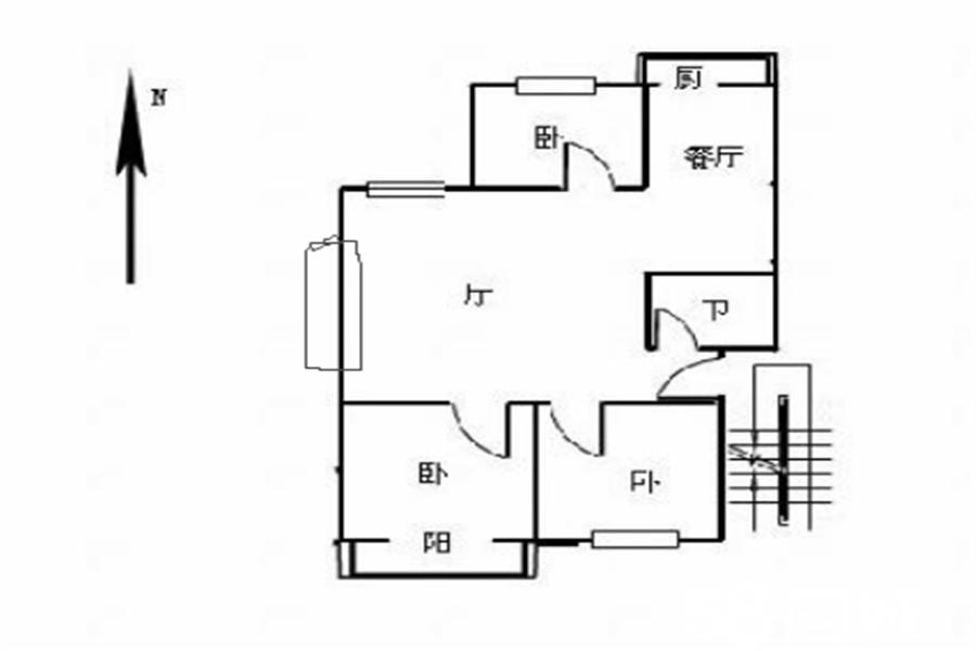 广泰小区低层大三居 全明户型 老证 连城别苑