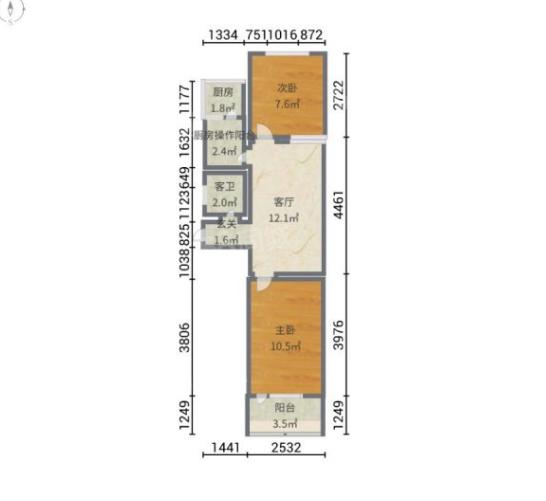 广乐里2居室南北通透总价低首付低4层看房方便
