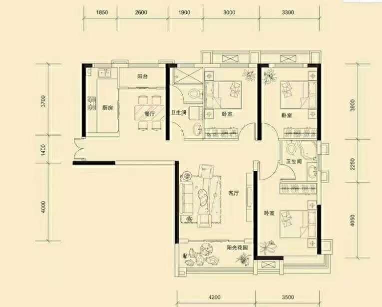 萬浩金百合東區全款可更名3居室看房方便