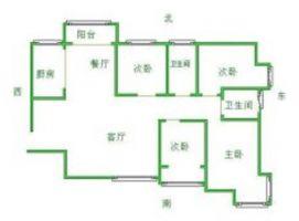 安居2室2厅全明户型