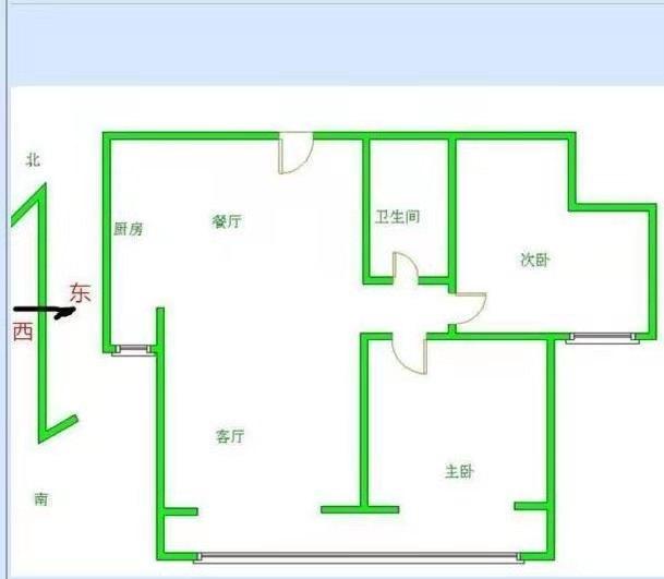 月亮湾小区全款包更名2居室通阳台好楼层看房方便