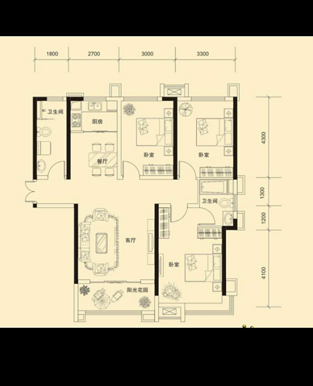 万浩金百合东区全款包更名3居室西楼头有钥匙