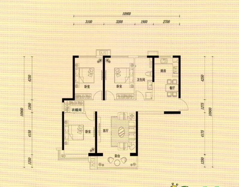 万浩金百合西区精装修3居室西户总价低能贷款