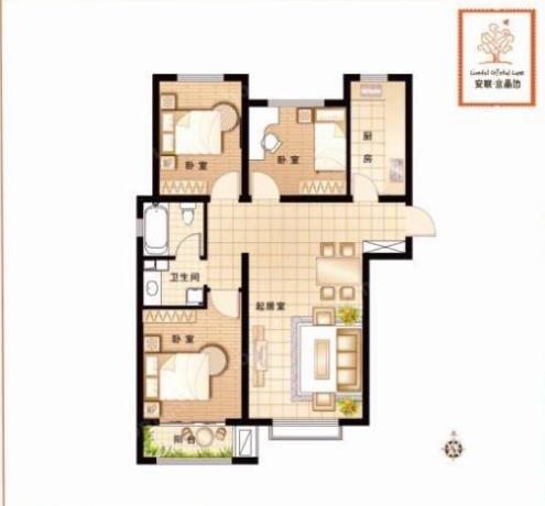 安联水晶坊南北通透3居室送地下室看房方便