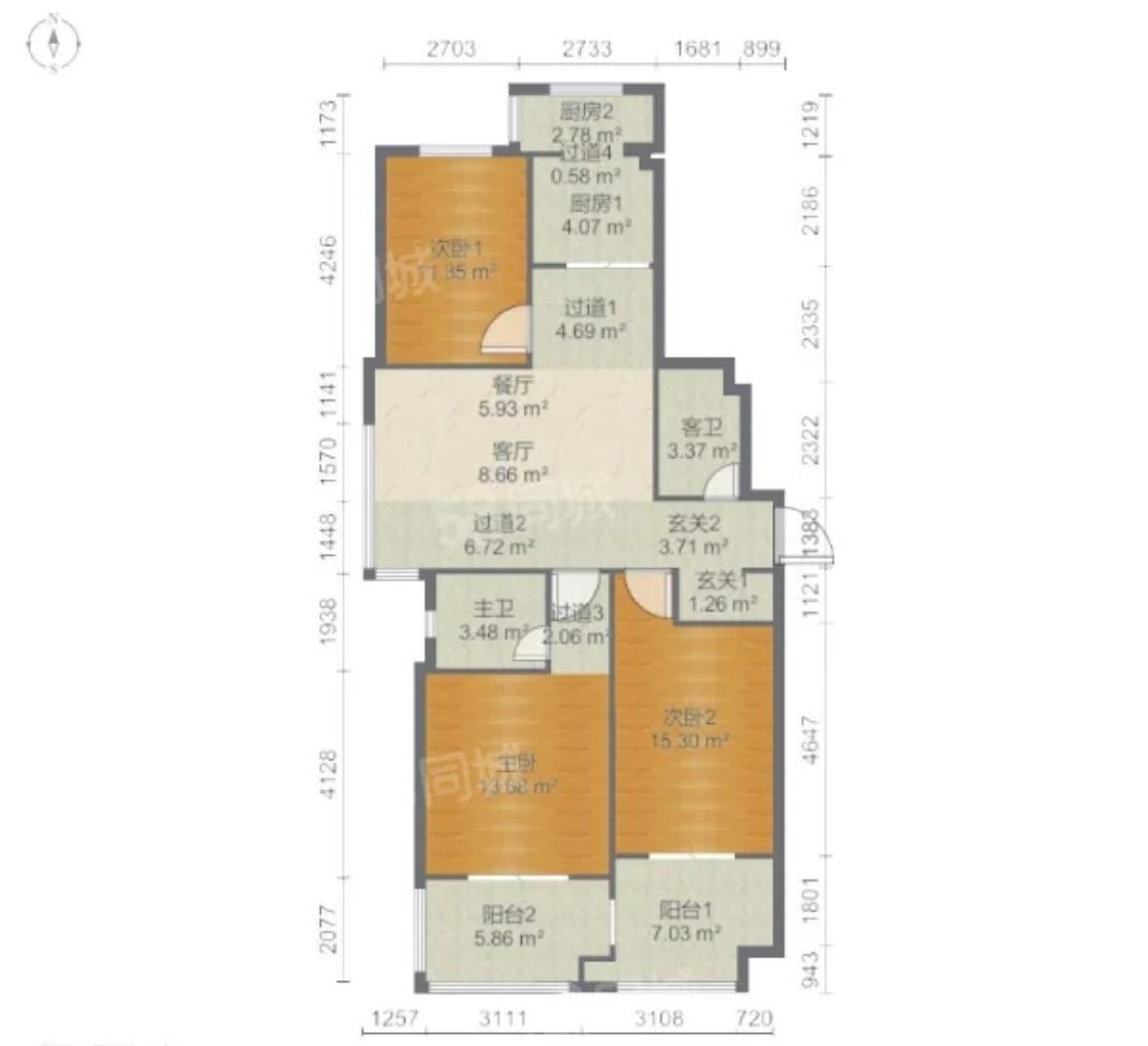 闲置3室2厅出租