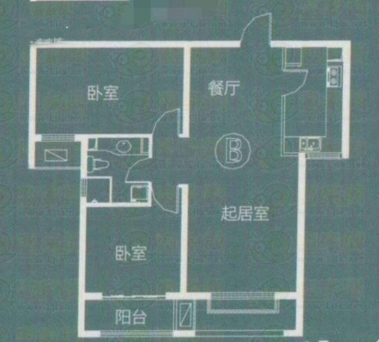 安联水晶坊2居室中等装修老证看房方便