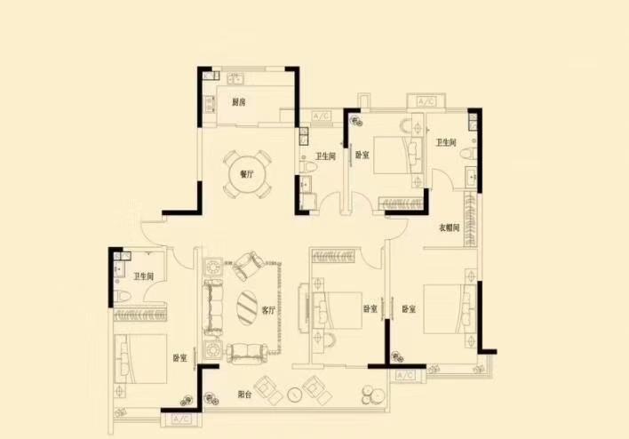 万浩金百合西区全款包更名4居室一层2户东户