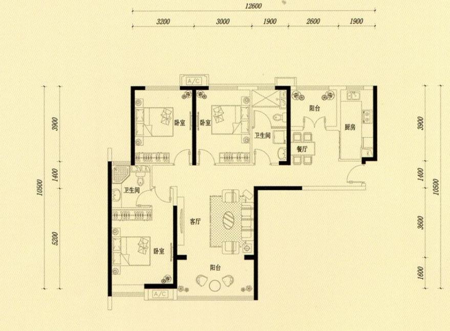 万浩金百合东区精装修3居室有证能贷款有钥匙